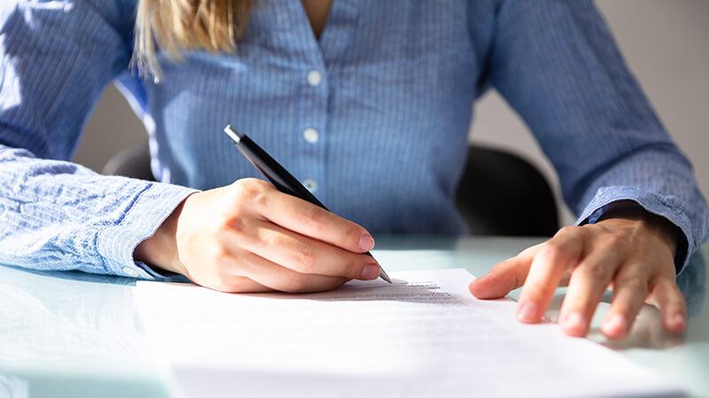 signature des conditions générales de vente