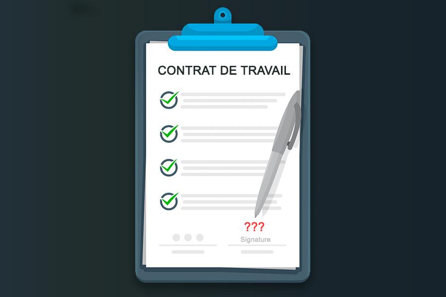 """Alt=""""Contrat de travail non signé - Fiche pratique"""""""
