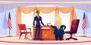 Contestation du résultat des élections présidentielles par un président