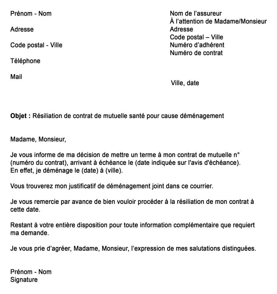"""Alt=""""Modèle de lettre de résiliation mutuelle 2021"""""""